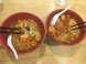 Left: Korean ramen ( A bit spicy ) Right: Kimchi Ramen